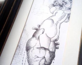 Framed fineliner drawing/design