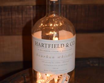 Hartfield Craft Distillery Lighted Bourbon Bottle