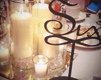 Wedding Table Numbers Eleven to Twenty