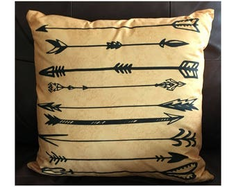 Rustic Arrow Throw Pillow