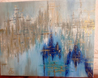 Abstract acrylic painting, modern, wall painting, canvas, original
