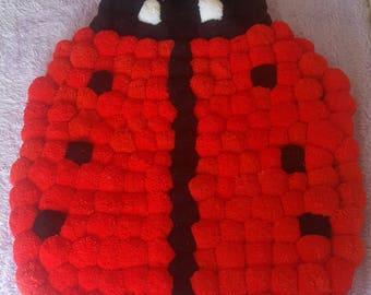 Ladybird pom pom Rug