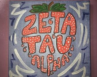 Zeta Tau Alpha Strawberry Canvas