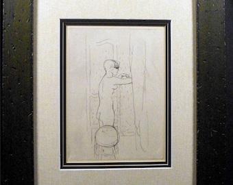 Pierre Bonnard, Etching, Toilette, 1927, Mint condition, Engraving, Provenance, Post Impressionist, avant-guarde, French, Mint, Original