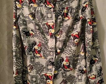 Vintage printed blouse