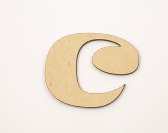 50cm MDF Wood Wooden Letters 3mm Thick RAVL