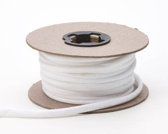 Broadcloth spaghetti, 1/4-inch Wide, 15 yds, White