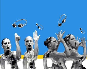 LIMITED EDITION A3 Print POSTER Swimmers