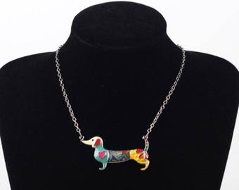 "The Paisley--Dachshund Love ""Wearable Weiner"" Necklace"