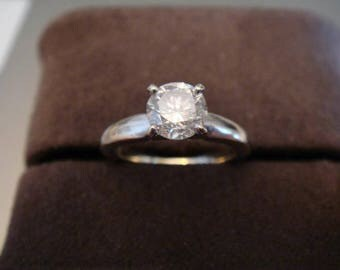 1.15 carat F/VVS2 GIA Certified Round Cut Diamond Engagement Solitaire Ring