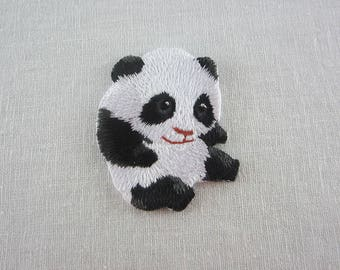 Panda Iron-On Patches Pet Series