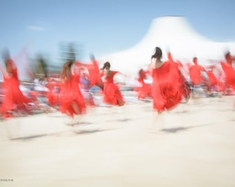 Abstract Jerusalem dancers, Dance photography, Dancers in red # 4