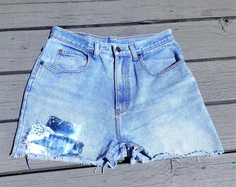Vintage High Waisted Jordache Cut Offs w/ Patches