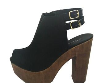 Black ZEL platform sandal