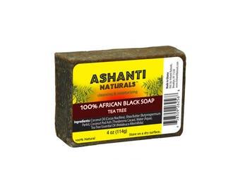 100% African Black Soap Bars - Tea Tree