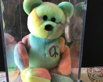 Rare PEACE Beanie Baby With ALL errors