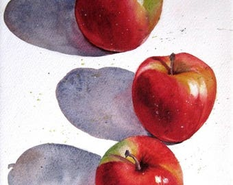 Apple a Day in reds and shadows