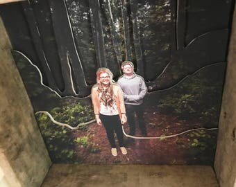 3D Cutout Wood Photo Layers Photography Pallet Wood Frame 10x10