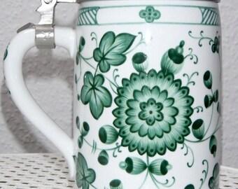 Beer mug Seltmann Weiden old Tettau decor Chrysanthemum