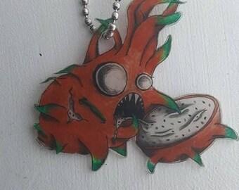 Zombie Dragon Fruit Necklace