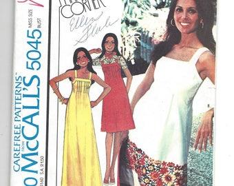 Vintage 1976  Pattern. McCall's 5045.  Marlo's Corner misses Dress or Jumper.  Size 8.  Marlo Thomas Boho