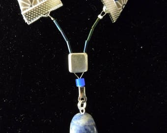 with sodalite pendant necklace