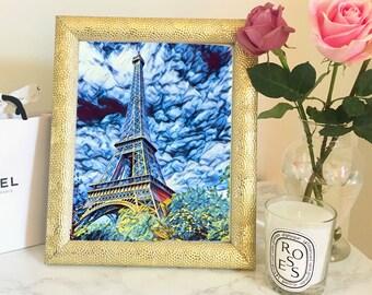 Eiffel Tower Art // 8X10 Download