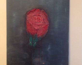 Oil painting The Rose in Blue