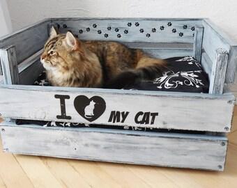 Cat bed wood, Pet bed, pet house, cat house, Cat Box