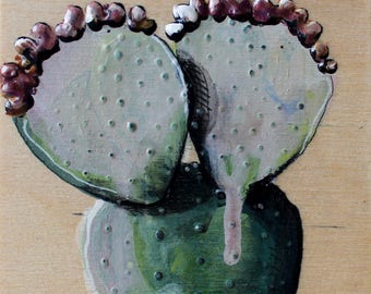 plant with two heads and wreath Burgundy on wood format Gallery