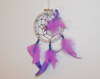Dream Catcher W/ Beads and Feathers (Small), decor for home, vehicle, nursery, or office.