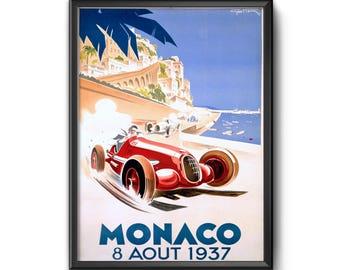 MONACO, 1937 By Geo Ham - Fine Art Poster Print Reproduction