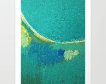 Abstract drawing pastels - giclee art print