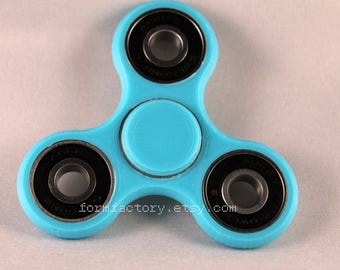 Best Fidget Spinner Toy! Triple Fidget Toy Spinner Fidget Hand Spinner with Ceramic Bearings. Spinner Fidget in Turquoise & Custom Colors.