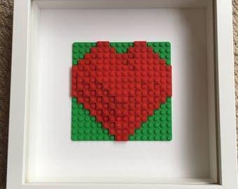 Lego 3D heart frame
