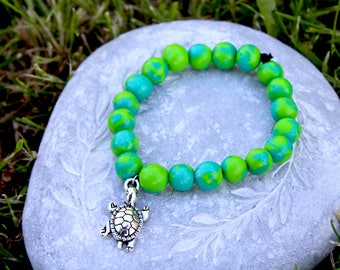 Turtle Bracelet • Friendship Bracelet • Beaded Bracelet • Jewelry • Gift • Women's Bracelet • Turtle Charm