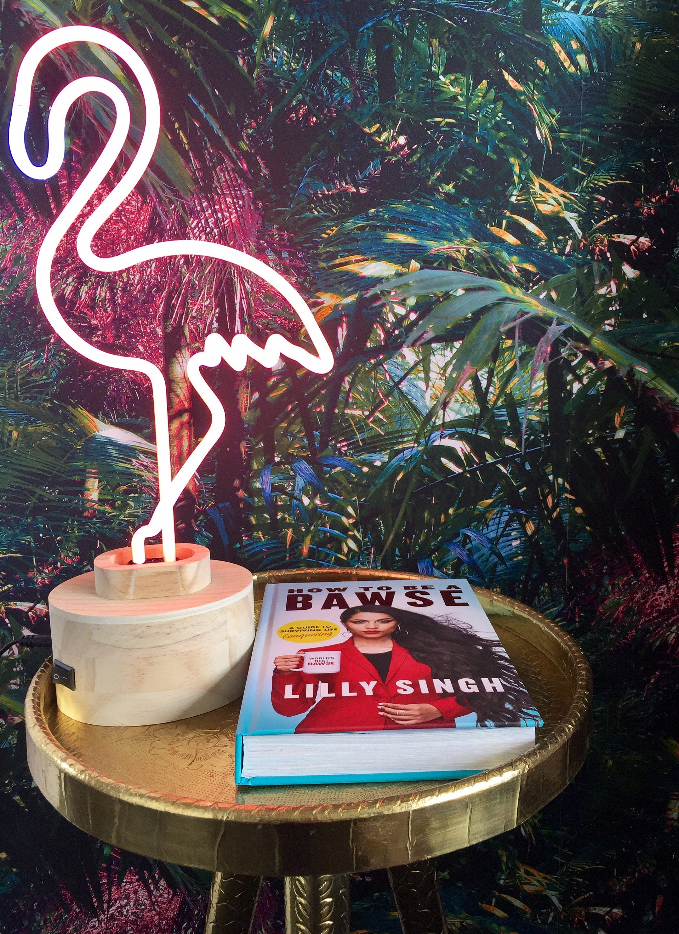 Neon Table Light: Chic & Cool Lumosnap Neon Pink Flamingo Table Light Or Desk