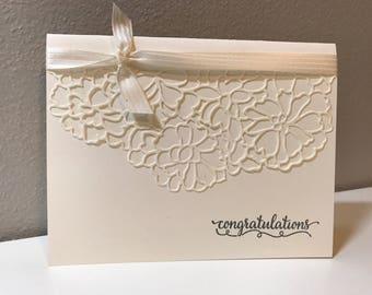 Wedding, Bridal Shower, Anniversary Handmade Stampin' Up! Card