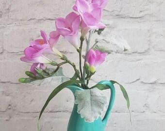 Green garden freesia jug