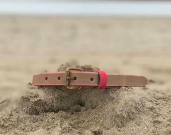 Vegetable leather belt handcrafted Custom made