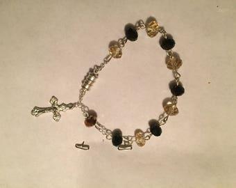 "7 1/2"" Magnetized clap Rosary Bracelet"