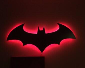 Batman Symbol Wall Mount Light