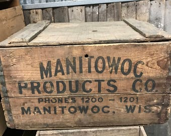 Manitowac Products Co wooden crate
