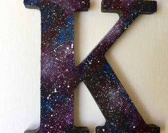 Space Themed Galaxy Initials
