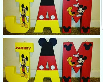 Kustom Made Mickey Mouse Themed Letters