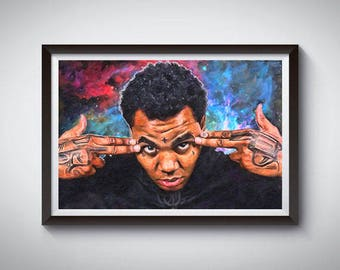 Hip Hop Inspired Art Poster Print, Kevin Gates, Rap Poster, Kevin Gates Poster