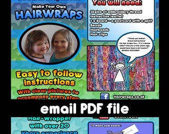Make your own hair wraps instructions