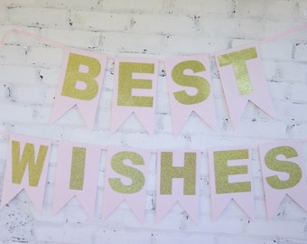 Pink and Gold Best Wishes Banner
