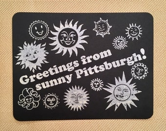 Greetings From Sunny Pittsburgh Postcard