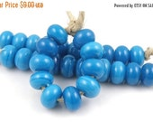 Boxing Week Sale Atlantis Spacers - Handmade Artisan Lampwork Glass Beads - 5mmx9mm SRA (Set of 10 Spacer Beads)